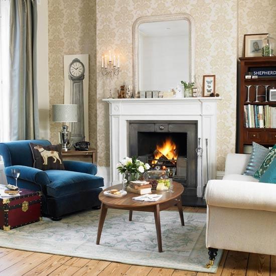 Английский стиль в гостиной фото