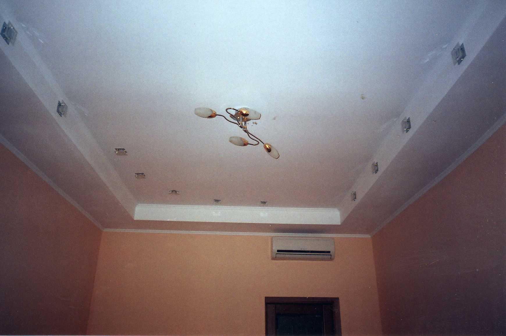 Потолок второй уровень своими руками
